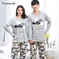 Pajamas Couple Long sleeve Sleepwear Cotton  Pyjamas Men Love pajama Set