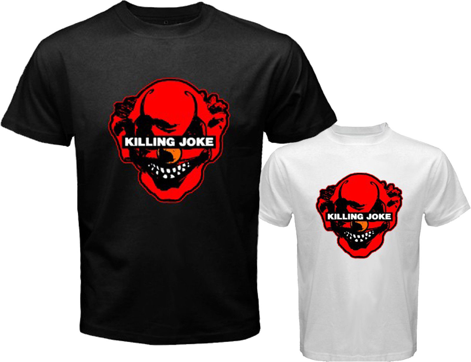 New KILLING JOKE Punk Rock Band Logo Mens White Black T-Shirt Size S to 3XL