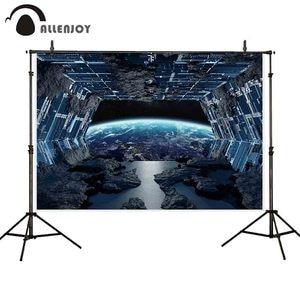 Allenjoy futuristic photography backdrop universe space planet technology background photocall photoshoot studio decor custom