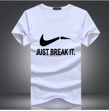 2019 Newest Cotton Funny T Shirts O-Neck T-shirt Men Fashion brand JUST BREAKLT Print shirt Tops Tees Casual Mens