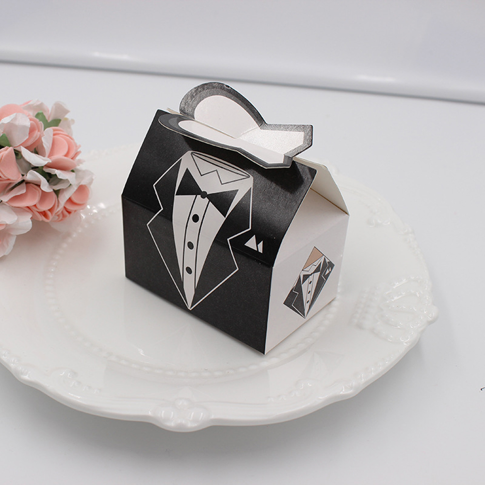 50 Pcs/lot Bridal/Groom Wedding Favor Candy Box Party Favour Gifts ...