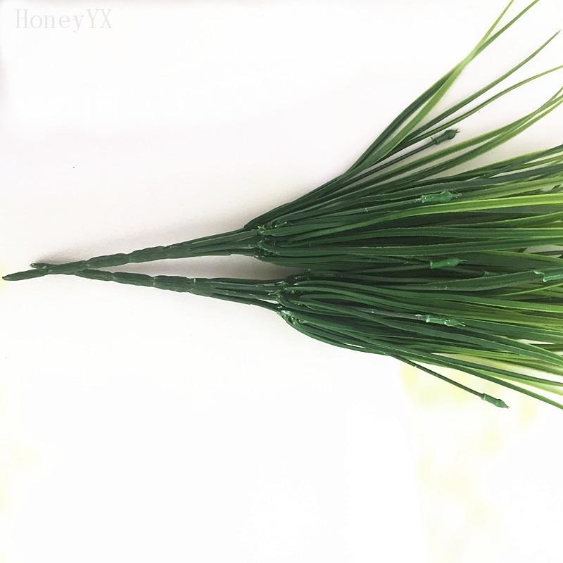 6 шт. 38 см искусственная трава зеленая Пластик Весна искусственные растения для моделирования цветы Home отель магазин dest Декор decorat