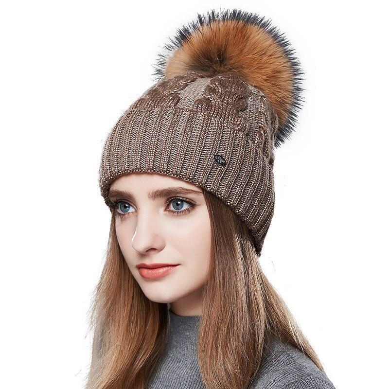 307c4e63 ENJOYFUR Fashion Winter Hats Caps Women Rough Twist-Type Cashmere Knitted Hat  Female Girl Thick