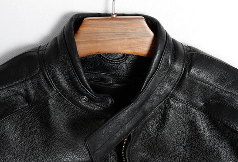 La Veste Hommes Doublure Mouton 5xl Outwear Taille Noir Mâle Moto En D'hiver Véritable Peau Plus De Chaud Cachemire Manteau Cuir SpVzUM
