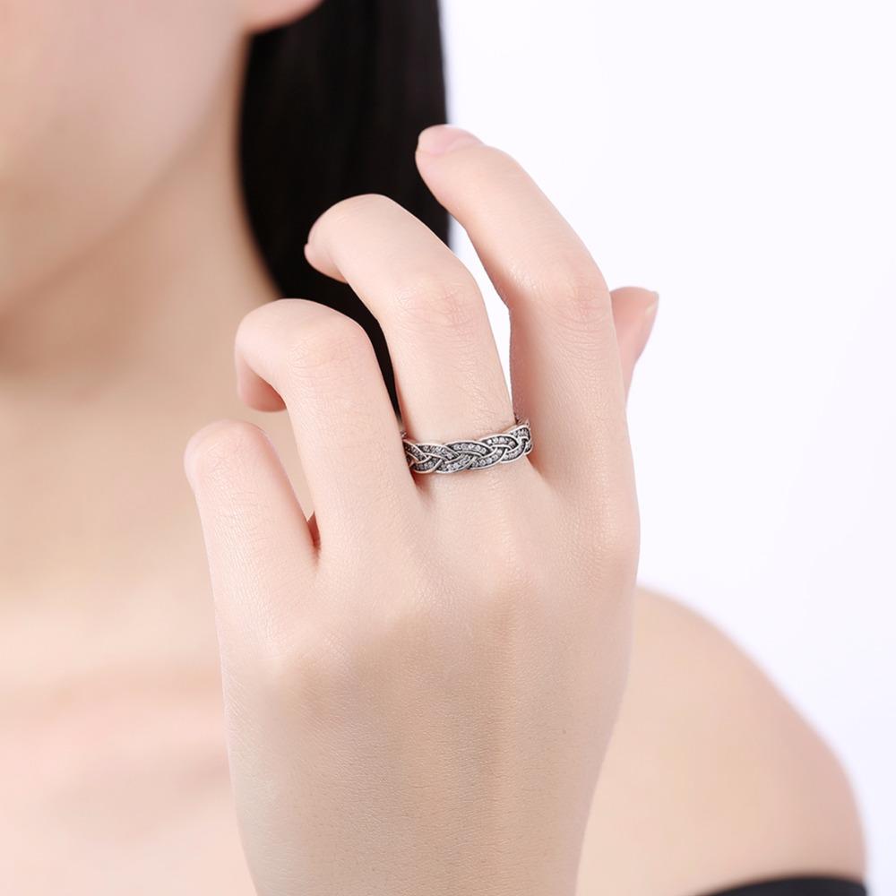 2018 Sale 925 sterling silver Twist weave silver finger ring women ...