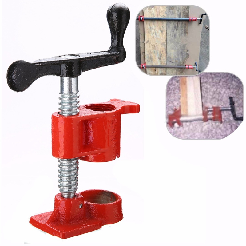 Mayitr 3/4 Wood Gluing Pipe Clamp Set Kit Profesional Woodworking Cast  Fixture Carpenter Tools Iron 12.7x10cm diesel diesel 00ss7q 0jalp 81e
