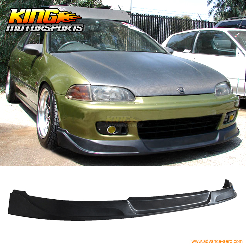 FOR 1992-1995 HONDA CIVIC EG 2 3DR FRONT BUMPER LIP SPOILER BODYKIT CONCEPT TYPE PU купить в Москве 2019