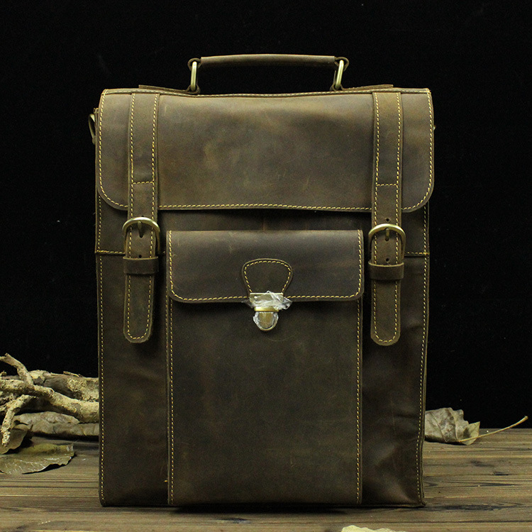 LOVMAXI Unisex leather Male backpacks Vintage causal genuine leather backpack coffee causal bags Men's female Travel bags