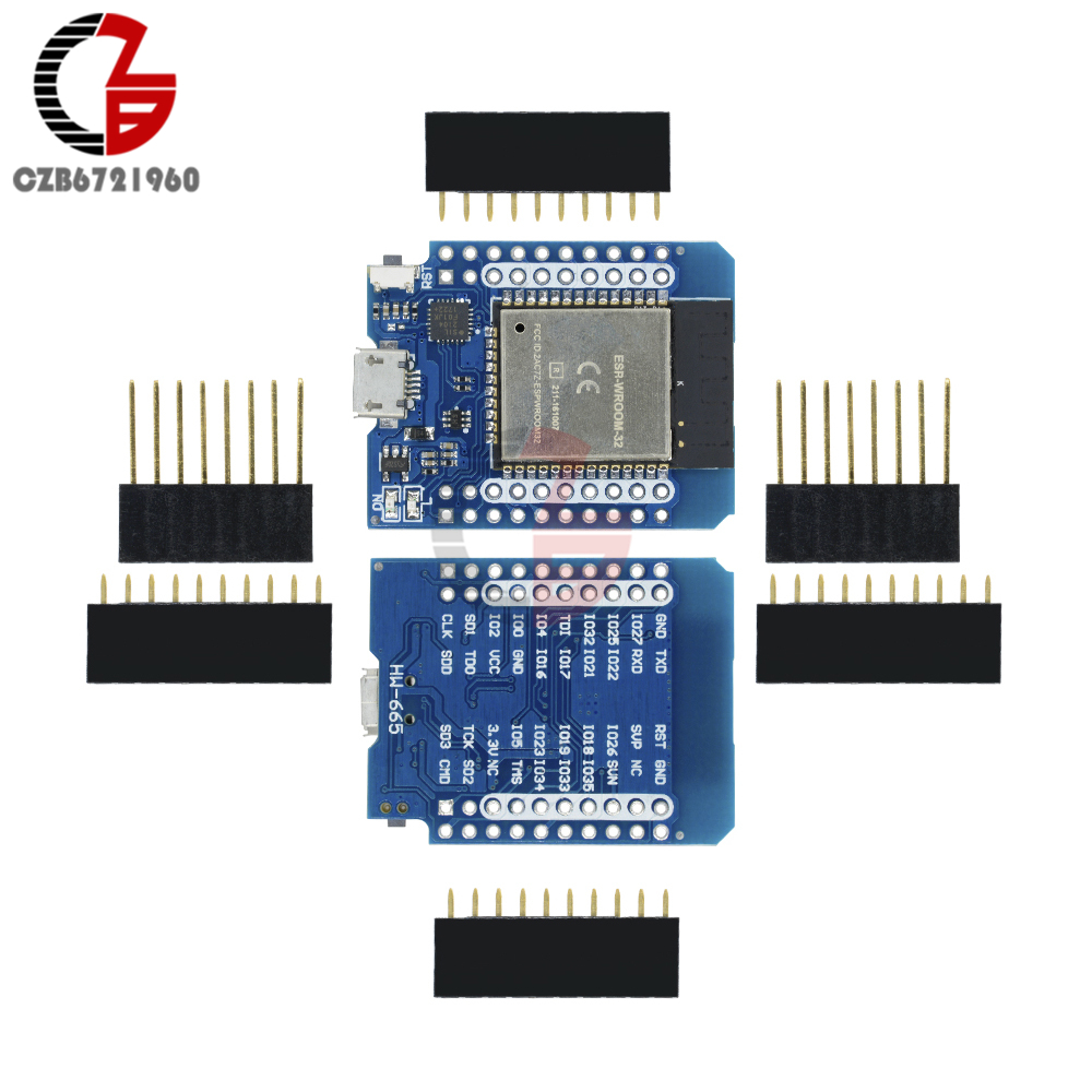 ESP32 ESP-32S ESP8266 Wifi Bluetooth Development Board CP2104 WEMOS D1 MINI ESP-WROOM-32 Module Micro USB for Arduino atmega32u4 esp8266 esp12e badusb tf micro sd virtual keyboard development board for arduino