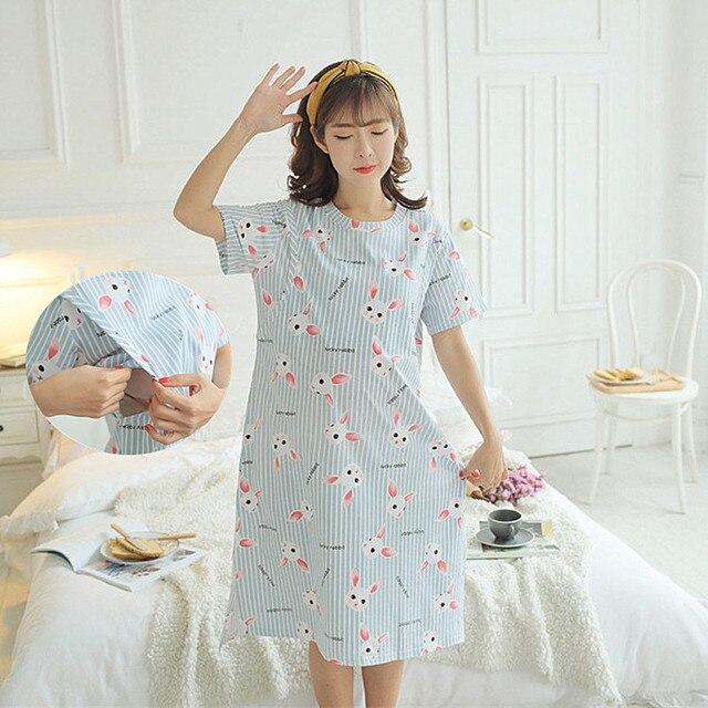 ce01d6ab61df7 ночная сорочка для кормления мам грудью домашняя ночная рубашка для беременных  халат сорочка женская для беременных