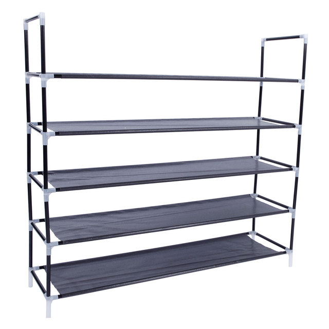 5 Tier Shoes Rack Stand Storage Organizer Fabric Shelf Holder Stackable  Closet US