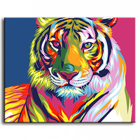 Oil Painting hand painted Oil Painting tiger on Canvas Abstract Animal Wall Art for Home Decoration / no frame AN-128