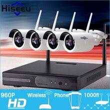 960 P Bezprzewodowy System CCTV 4ch Potężne Bezprzewodowe NVR Kamera IP IR-CUT Bullet Kamery CCTV Home Security System Nadzoru Zestawy