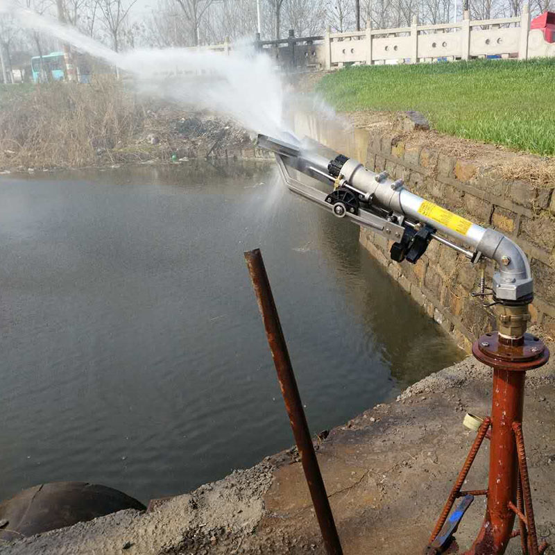 S103 2 Flange rain gun sprinkler for irrigation, Water Reel Irrigation Equipment with Rain Gun  - buy with discount