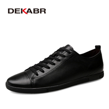 DEKABR Genuine Leather Casual Shoes Fashion Men Sho
