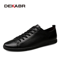 DEKABR Genuine Leather Casual Shoes Fashion Men Shoes Breathable Comfortable Men Real Leather Shoes Lace Up