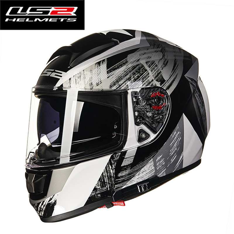 LS2 Helmets FF397 Citation fiber glass full face motorcycle helmet double lens with sun visor Moto Racing LS2 helmets ls2 helmet