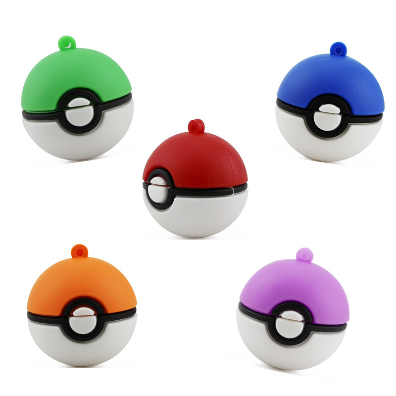 Pokemon Usb Flash Drive Cartoon Poke Ball Model Monster Pen Drive Cute Gift Pendrive U Disk Memory Stick 4gb 8gb 16gb 32gb 64gb  2