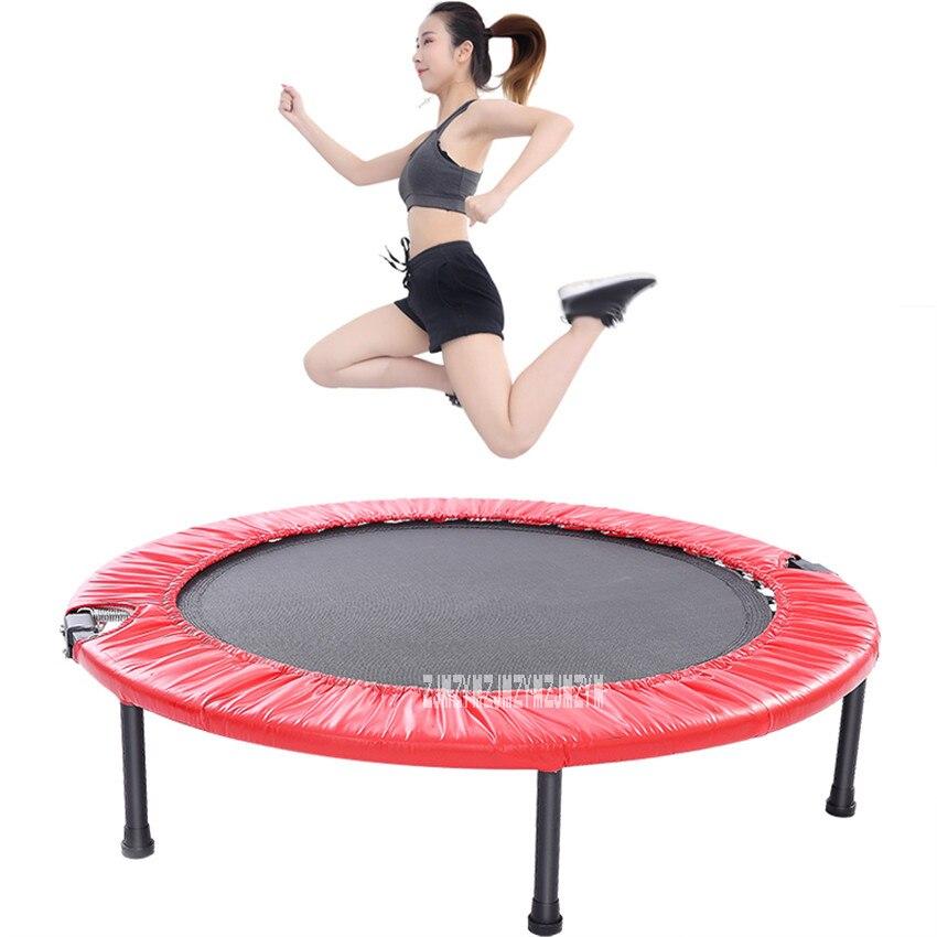C157 40 pouces Trampoline enfants sautant lit maison Gym pliant lit de rebond équipement de Fitness dames perdent du poids jambe minceur