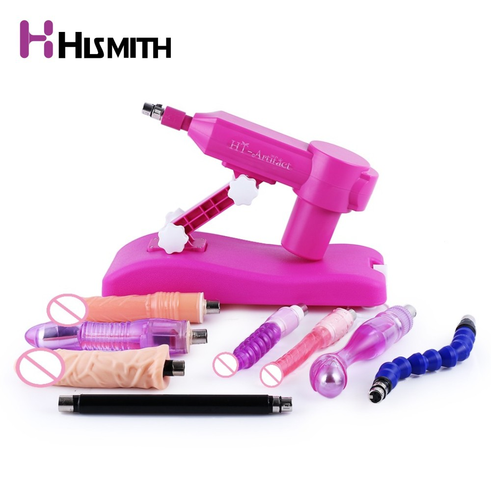 Hismith Hot Pink Water injection Sex Machine Automatic Retractable dildo machine Female masturbation love machine sex products