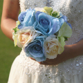 Handmade Beautiful Bouquet de mariage for Bridesmaid Women Bridal Brooch Bouquet Free Shipping 1 piece