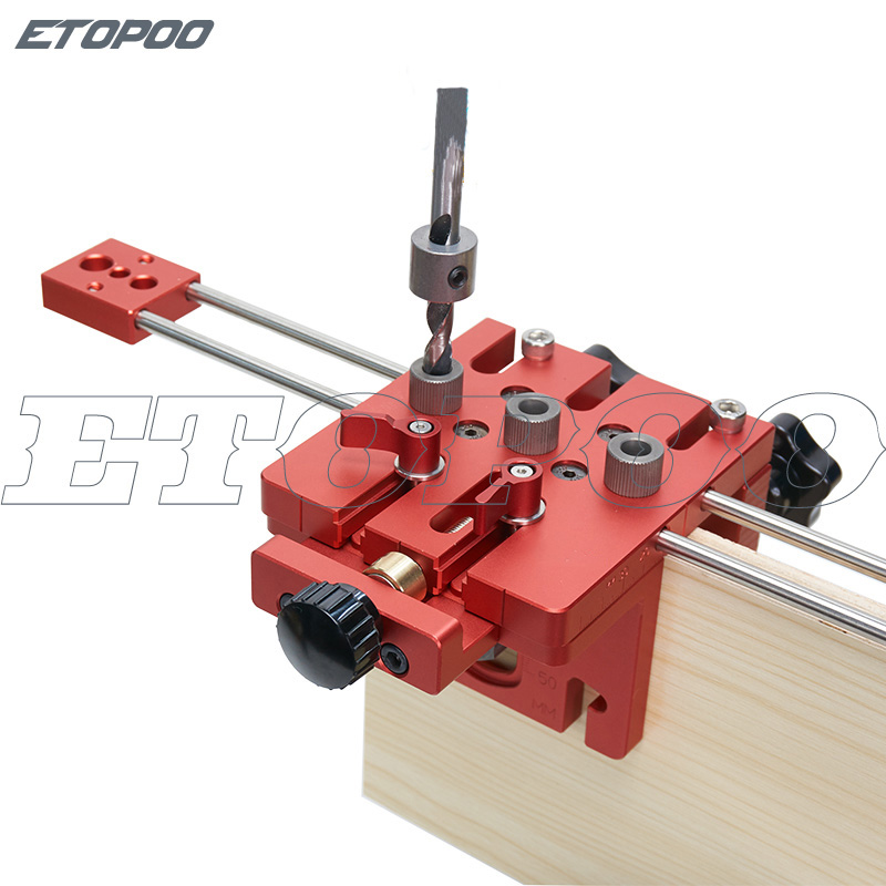 three in one punch locator plate furniture open gauge for fast connecting woodworking carpenter drill guide