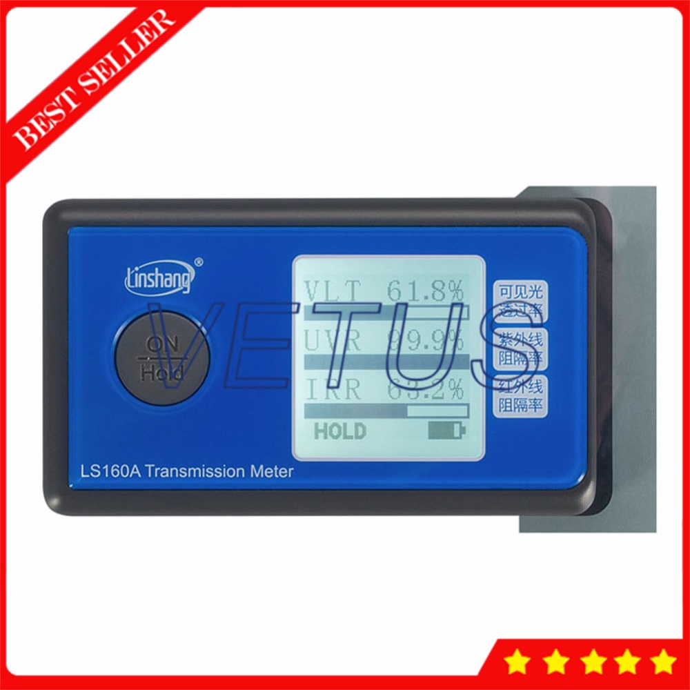LS160A Protable Window Film Solar Film Transmission Meter with UV IR Light Transmittance Tester Three function in ONE device ls160 solar film tester portable solar film transmission meter measure uv visible and infrared transmission values