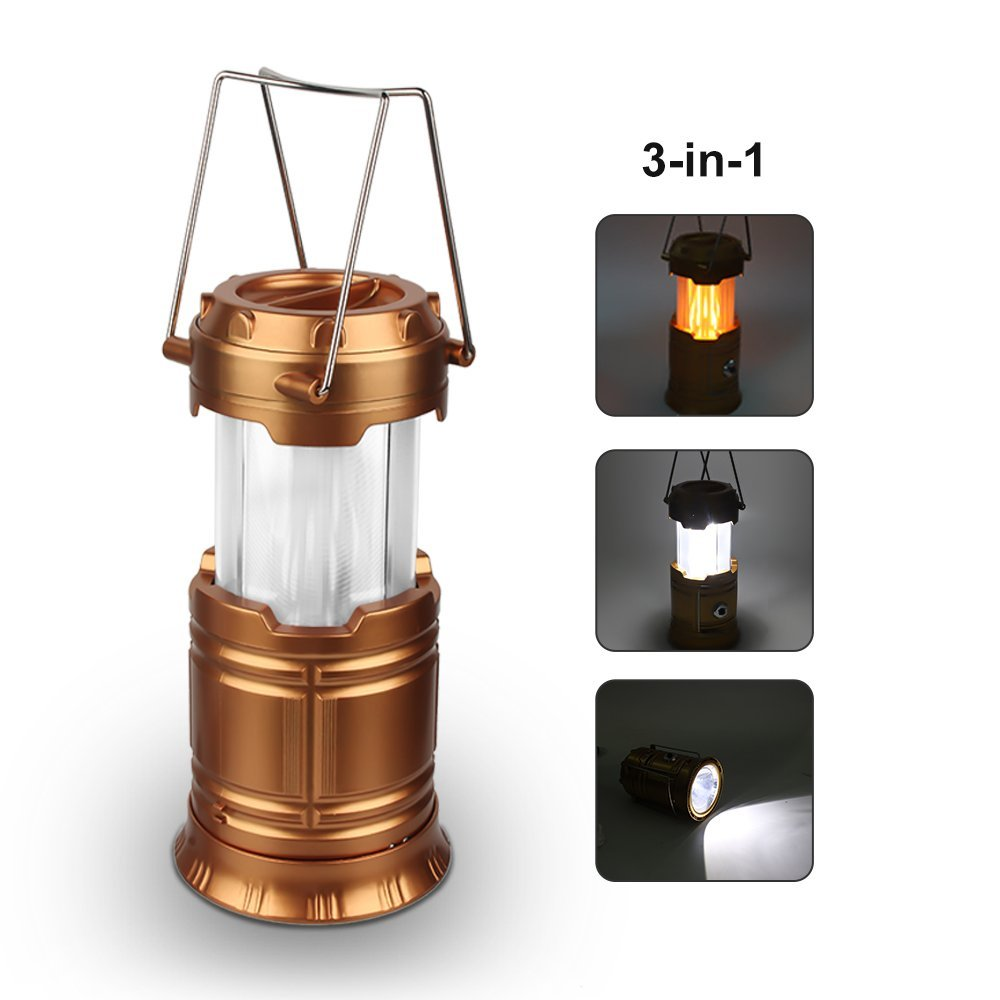 2Pcs LED Camping Lantern Lamp Battery Powered Multifunction Flame Camp Light Portable for Outdoor Indoor