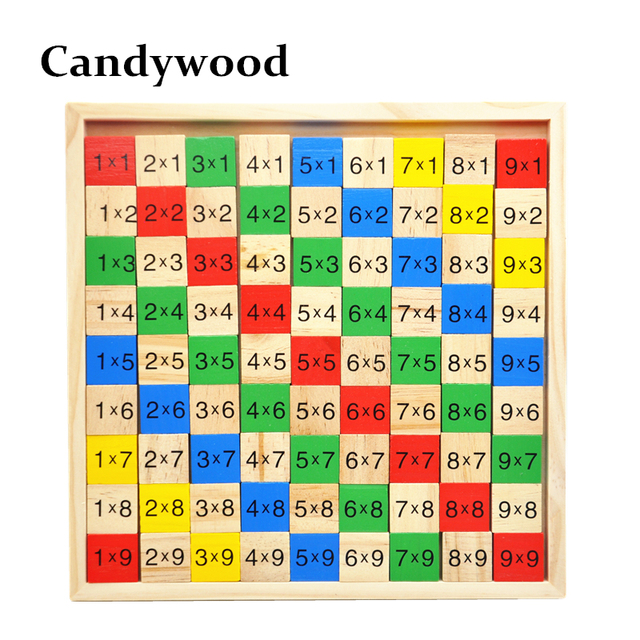 Math Toys 99 Multiplication Table 10*10 Figure Blocks Kids