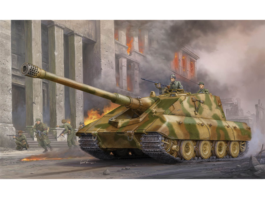1pcs Action Figures Toy Kids Gifts Toy Collection For Trumpeter 01596 1/35 German Jagdpanzer E-100 Tank Assembly Model Kit 1pcs action figures toy kids toy collection for trumpeter 1 35 scale model 05531 sd kfz 6 5 tonne semi crawler artillery tractor