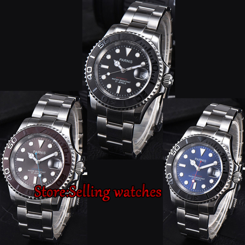 41mm Parnis Stainless Steel Sapphire glass Deployment Clasp Newest Hot 21 jewels miyota Automatic movement Mens Watch41mm Parnis Stainless Steel Sapphire glass Deployment Clasp Newest Hot 21 jewels miyota Automatic movement Mens Watch