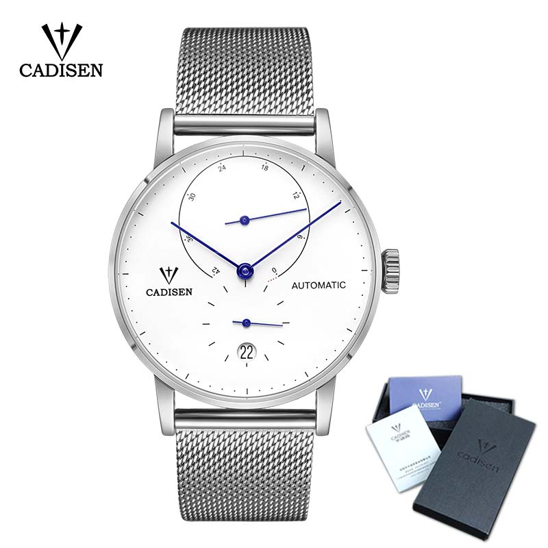 где купить CADISEN Top Mens Watches Top Brand Luxury Automatic Mechanical Watch Men Full Steel Business Waterproof Fashion Sport Watches по лучшей цене