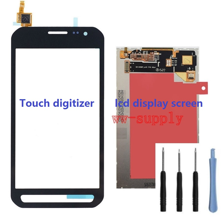 For Samsung Galaxy Xcover 3 G389 SM-G389F Touch Screen Digitizer Sensor + LCD Display Screen + Adhesive + Kits