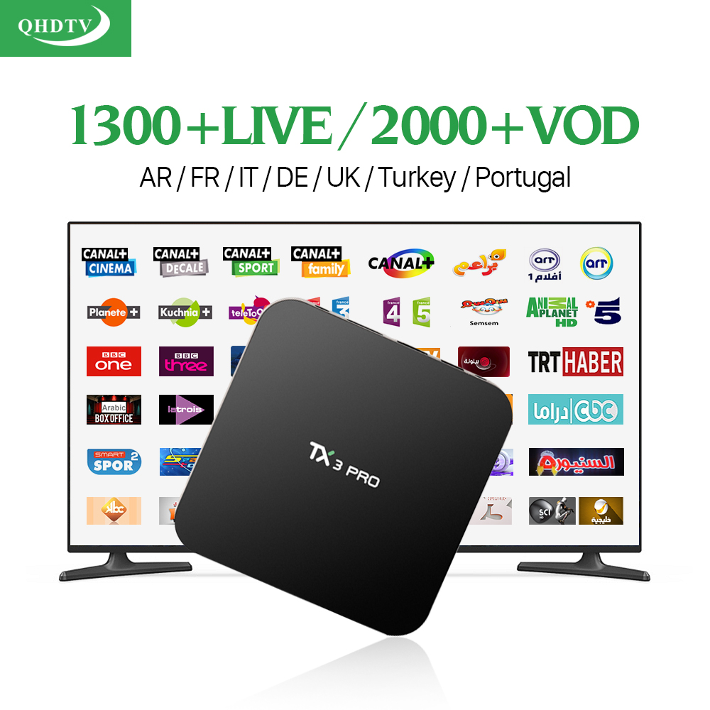 Mejor Europa S905X Árabe Caja de la TV Inteligente Android 6.0 Amlogic 1300 QHDT