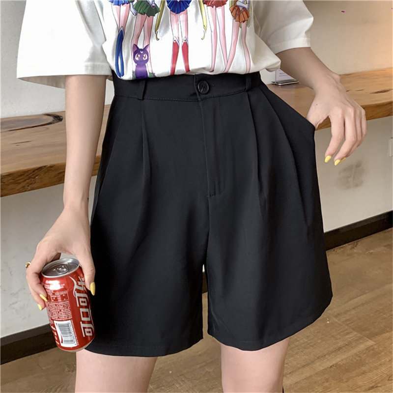 HziriP Women Bottoms Solid Office Lady 2019 Korea Chic Shorts Summer Female Straight Short Casual High Waist Fashion Feminino