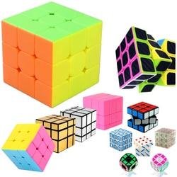3*3*3 магический куб, головоломка, игрушка для детей, скоростной куб 3х3х3 на 3, зеркальный куб и держатель, Qiyi Speed Cubs Megico брелок
