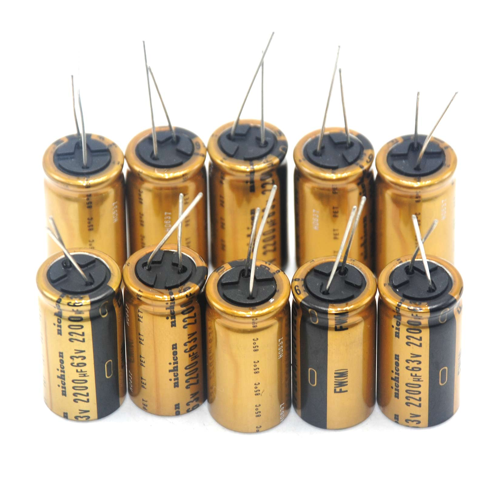 2pcs 2200uF 63V Nichicon FW Audio Electrolytic Capacitor Good for AMP Amplifier