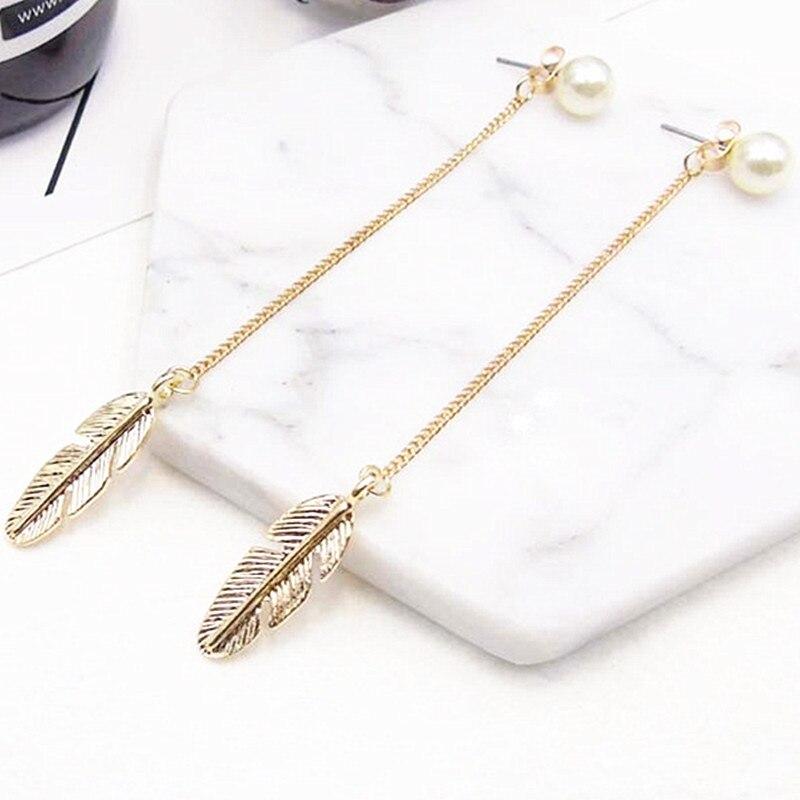 1 Paire Métal Or//Argent Leaf Drop Dangle Femmes Déclaration Crochet Boucles D/'oreilles Bijoux