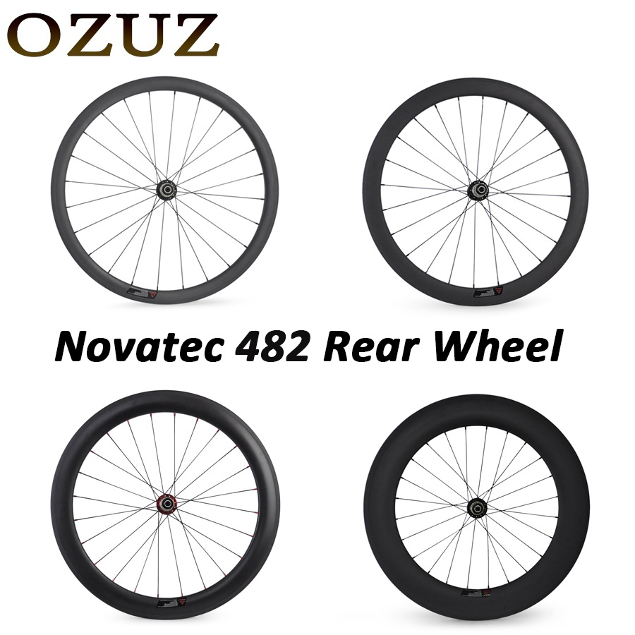 Novatec 291 OZUZ 700C 24mm 38mm 50mm 60mm 88mm Clincher Tubular Road Bike Bicycle Light Carbon Wheels Racing Only Rear Wheel free tax carbon bike front 60mm rear 88mm tubular racing wheels road cycling super light bicycle wheel set