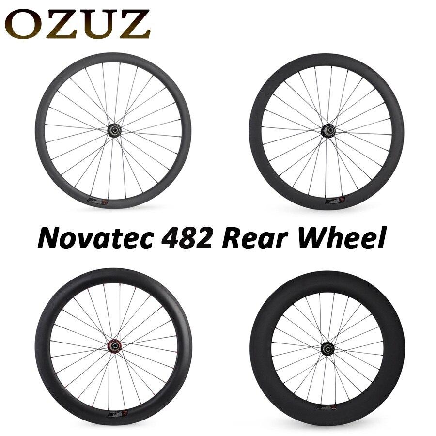 Novatec 291 OZUZ 700C 24mm 38mm 50mm 60mm 88mm Clincher Tubular Road Bike Bicycle Light Carbon Wheels Racing Only Rear Wheel полировальная машина по гск dexter power 4 750 вт