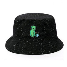 6e7c3b0069a34d Schwarz Druck Muster Eimer Hut Für Frauen Männer Paar Frühling Sommer  Fischer Hüte Caps Sonnencreme Hip Hop Cap