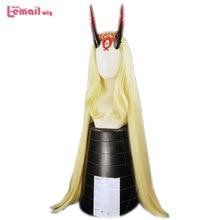 L email peruka Fate Grand Order Ibaraki Douji Cosplay peruki FGO Cosplay żółta, długa sukienka peruka z prostymi włosami żaroodporne włosy syntetyczne
