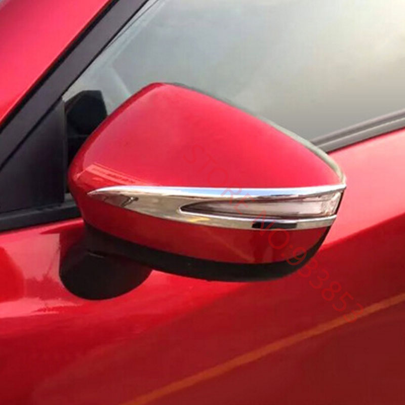 ABS Chrome Side Mirror Cover trim For <font><b>MazdaS</b></font> CX-3 <font><b>cx3</b></font> <font><b>2016</b></font> 2017 Rearview Decoration Molding image