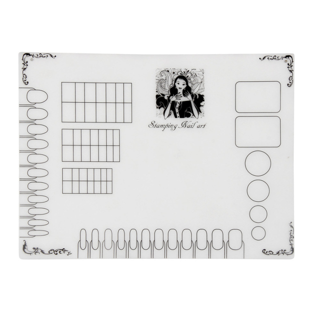 Best Deal New Professional Clear Silicone Nail Art Mat