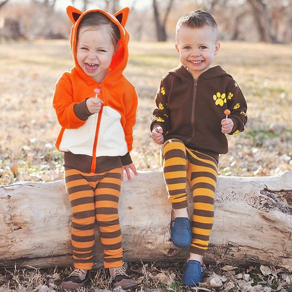 Kids Hoodies Sweatshirt Romper Toddler Infantil Baby-Boys-Girls Cartoon-Bear Outfits