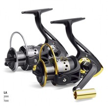 LINNHUE Spinning Reel 13BB+1 Stainless Steel LA1000 LA7000 LA4000 Metal Coil Spool Ice Jigging Fishing Pesca