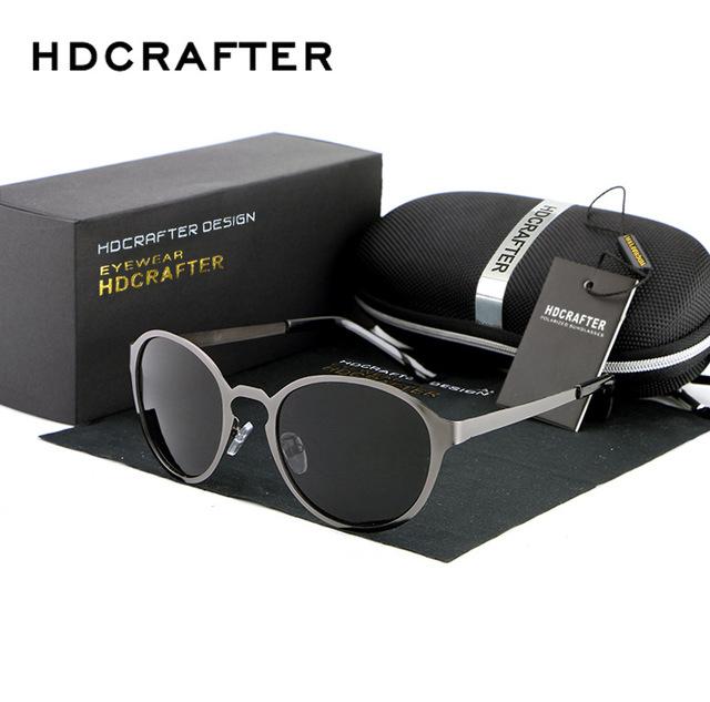 Rodada Mulheres Polarized Sungalsses Adulto Liga de Armação de Metal Óculos de Sol Dos Homens Clássico Para Retro Driving Óculos de Sol 88010