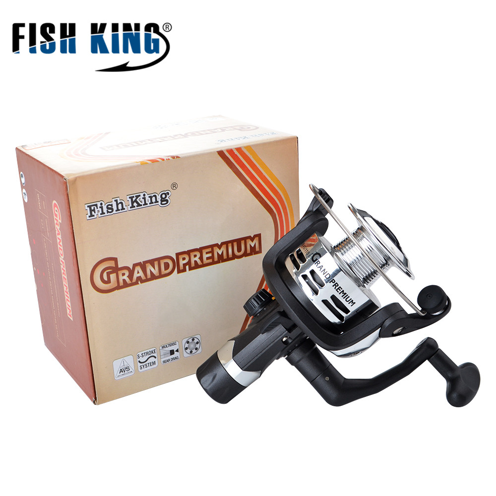 FISH KING GP140i-GP640i 1BB-6BB 5.2:1 PVC Spinning Fishing Reel Carp Fishing Wheel Spinning Reel ...