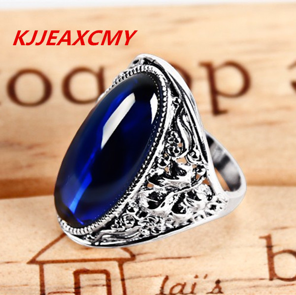 925 Silver Ring female fashion garnet red sapphire ring finger on the Korean version of Vintage American Jewelry