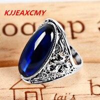 925 Anello D'argento moda femminile granato rosso zaffiro dell'anello di barretta per la versione Coreana del Vintage American Gioielli